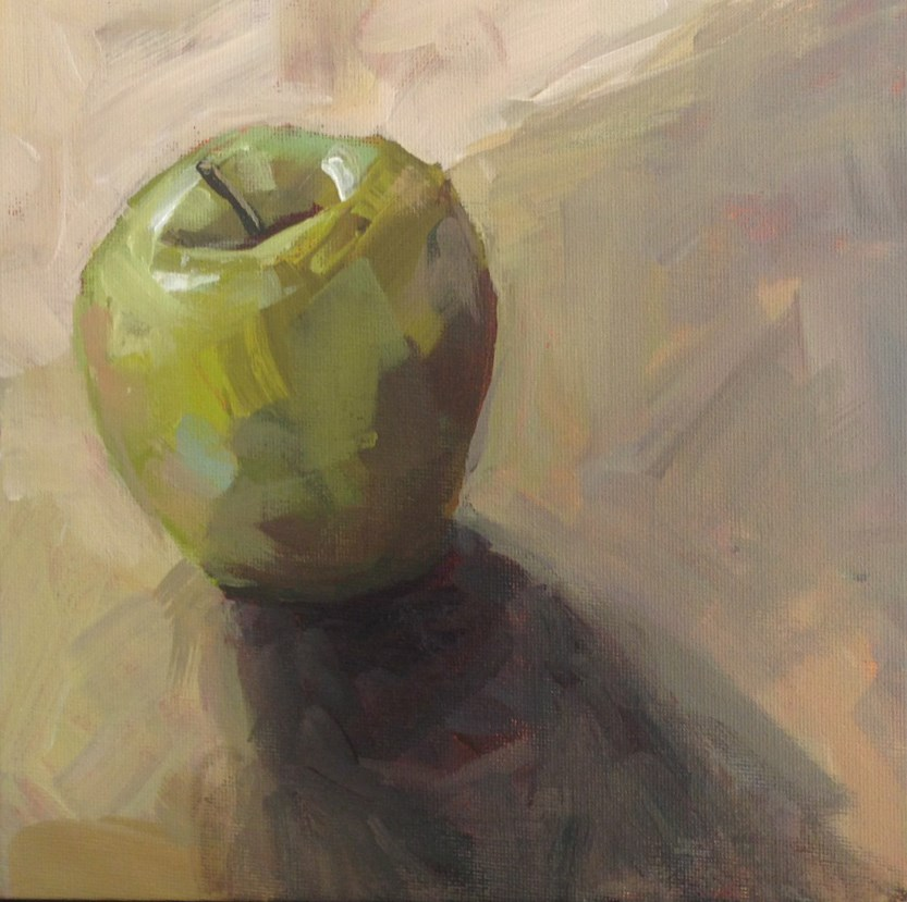"""Granny Smith No. 6"" original fine art by Shannon Bauer"
