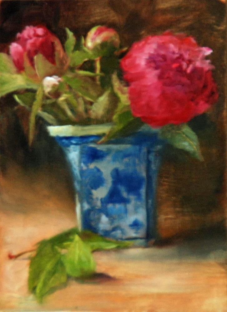 """Peony for your Thoughts"" original fine art by Dorothy McLennan"