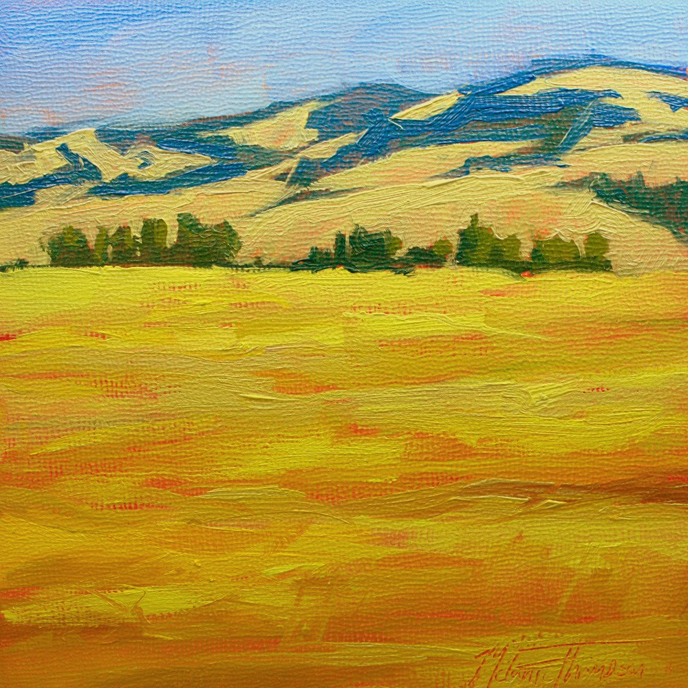 """View from a County Road"" original fine art by Melanie Thompson"