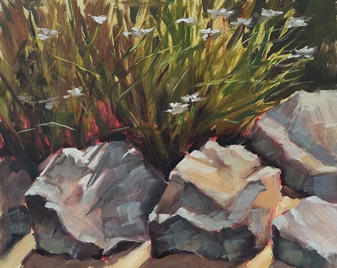 """""""A Spot in the Garden"""" original fine art by Deborah Newman"""