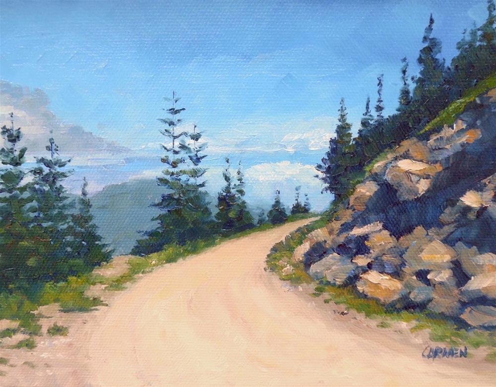 """Northwest Road, 8x6 Oil on Canvas Panel, Landscape Painting"" original fine art by Carmen Beecher"