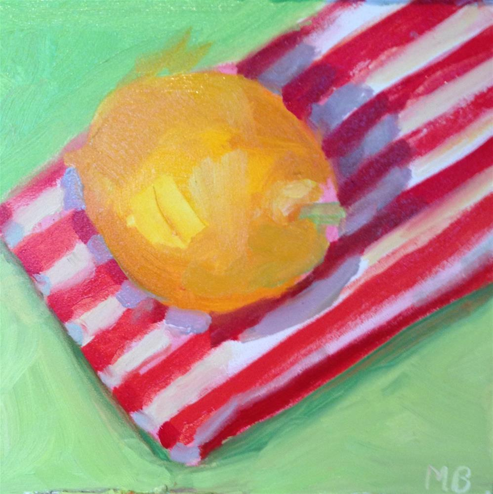 """Miss  Meyer Lemon Relaxing Before Her Juice"" original fine art by Marcia Bergtholdt"