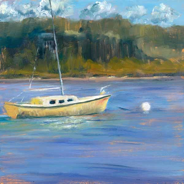"""Moored"" original fine art by Brenda Ferguson"