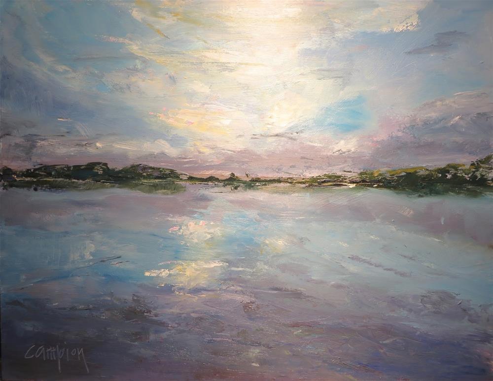 """626 Lake Sinisippi"" original fine art by Diane Campion"