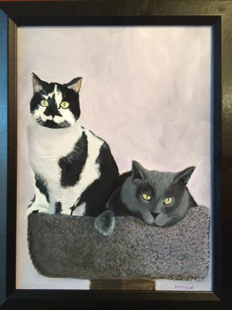 """""""Cats"""" original fine art by Kenny Arnold"""