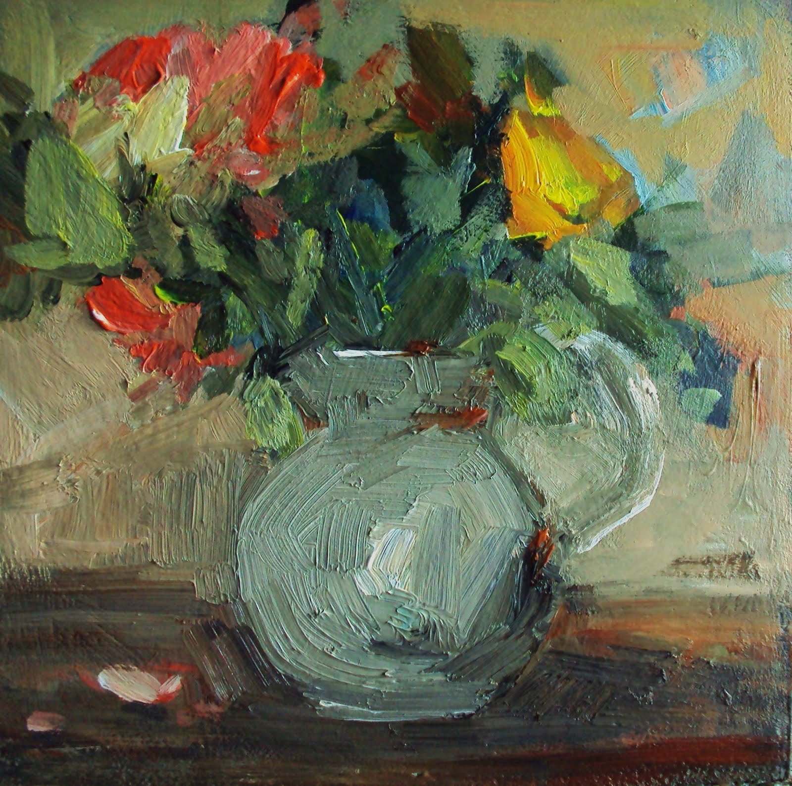 """a daisy in a jug"" original fine art by Parastoo Ganjei"