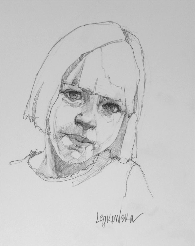 """Simply Adorable"" original fine art by Laurie Johnson Lepkowska"