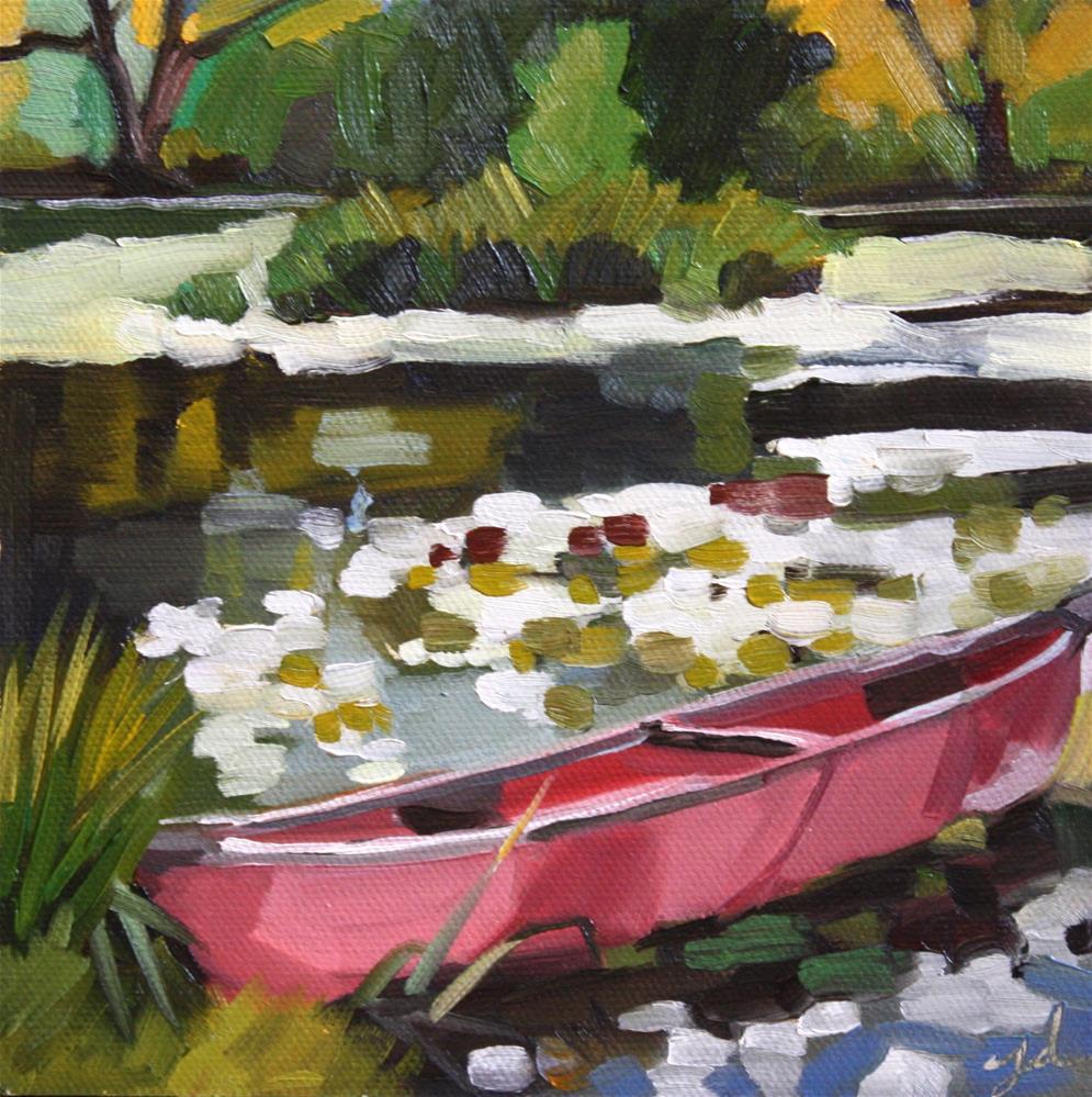 """Canoe"" original fine art by Jessie Dodington"