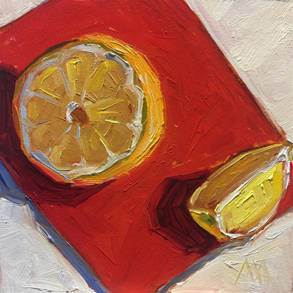 """Sliced Lemon"" original fine art by Austin Maloney"