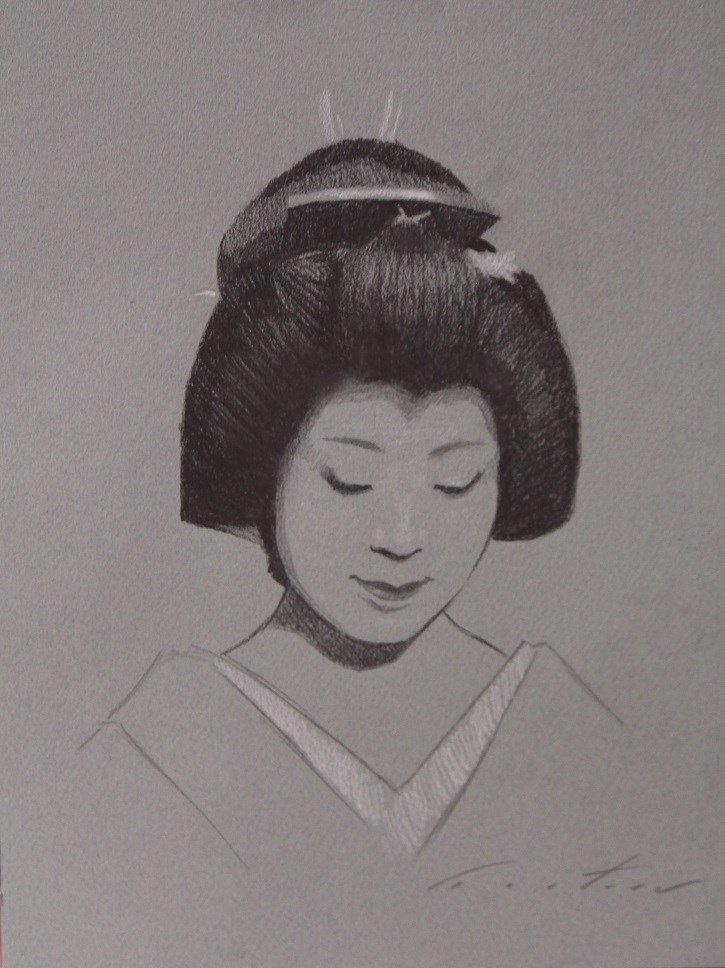 """Geiko Fukue Study"" original fine art by Phil Couture"