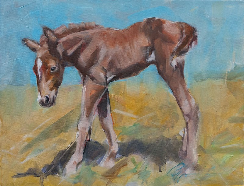 """Penny"" original fine art by Clair Hartmann"