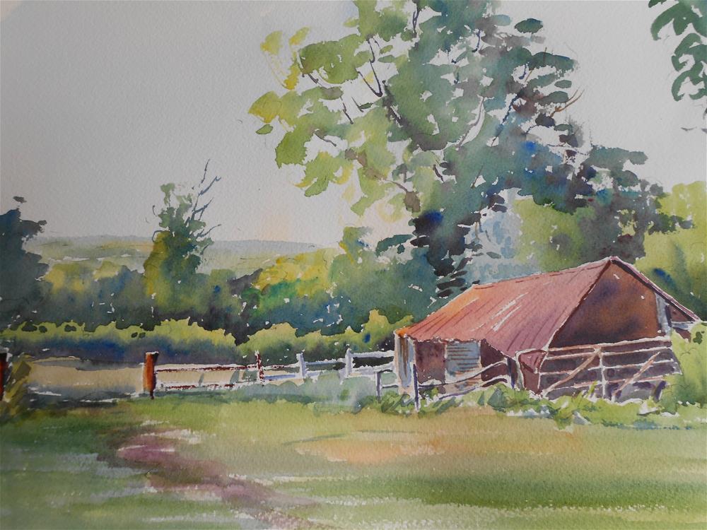 """Tucked away"" original fine art by Graham Findlay"
