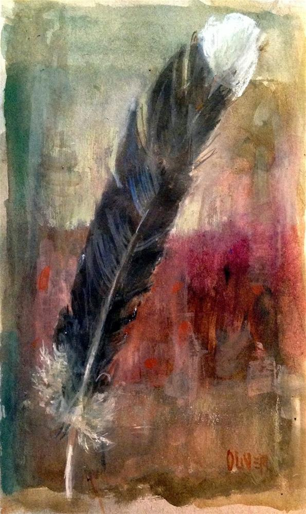 """Watercolor Weekend - Feather Study"" original fine art by Julie Ford Oliver"