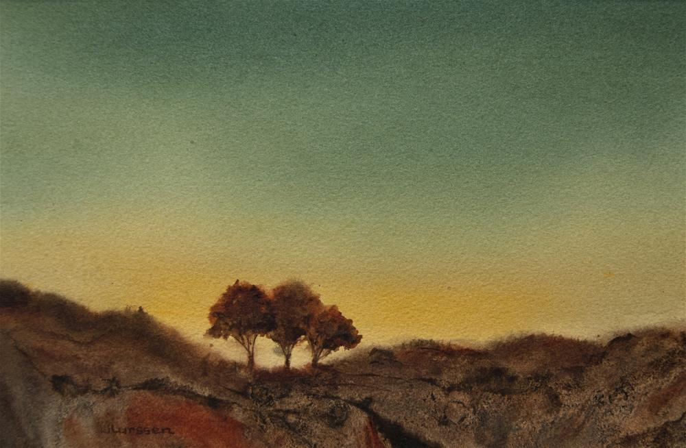 """Morning Glow"" original fine art by Jean Lurssen"