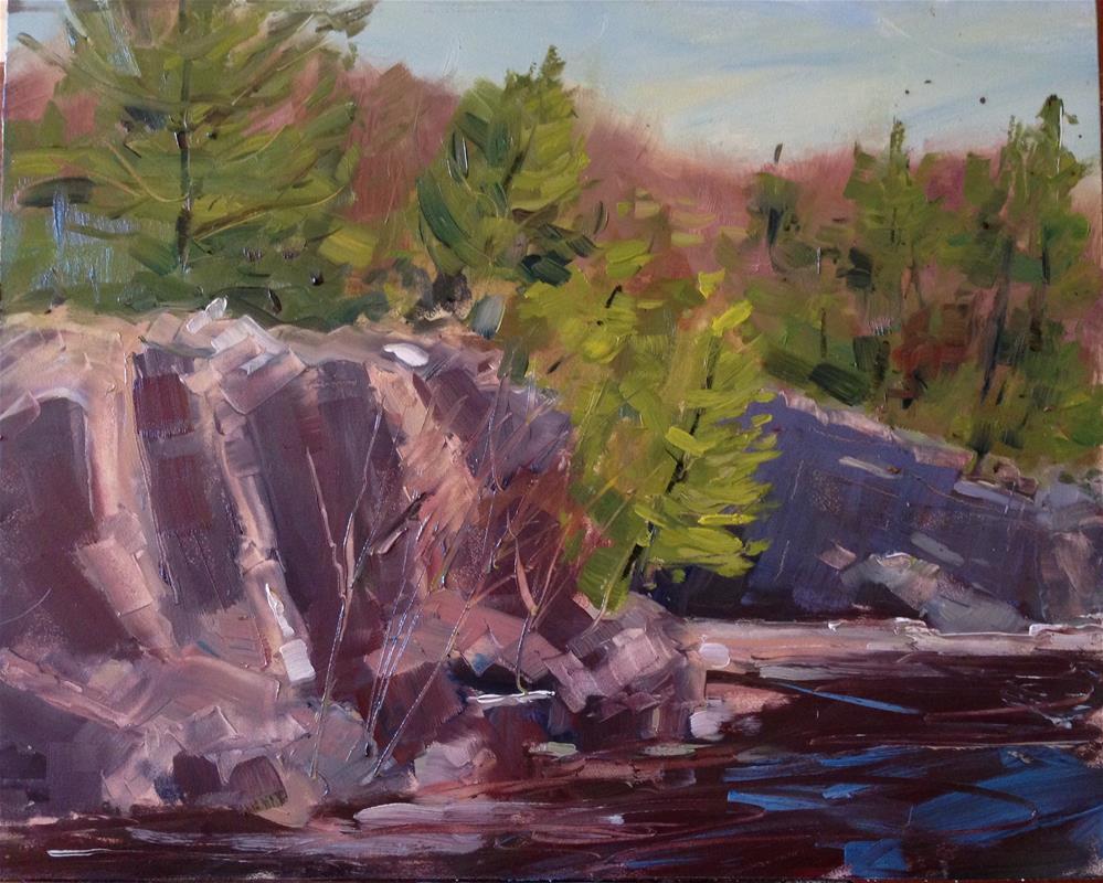 """#59 Taylors Falls Bluff"" original fine art by Patty Voje"