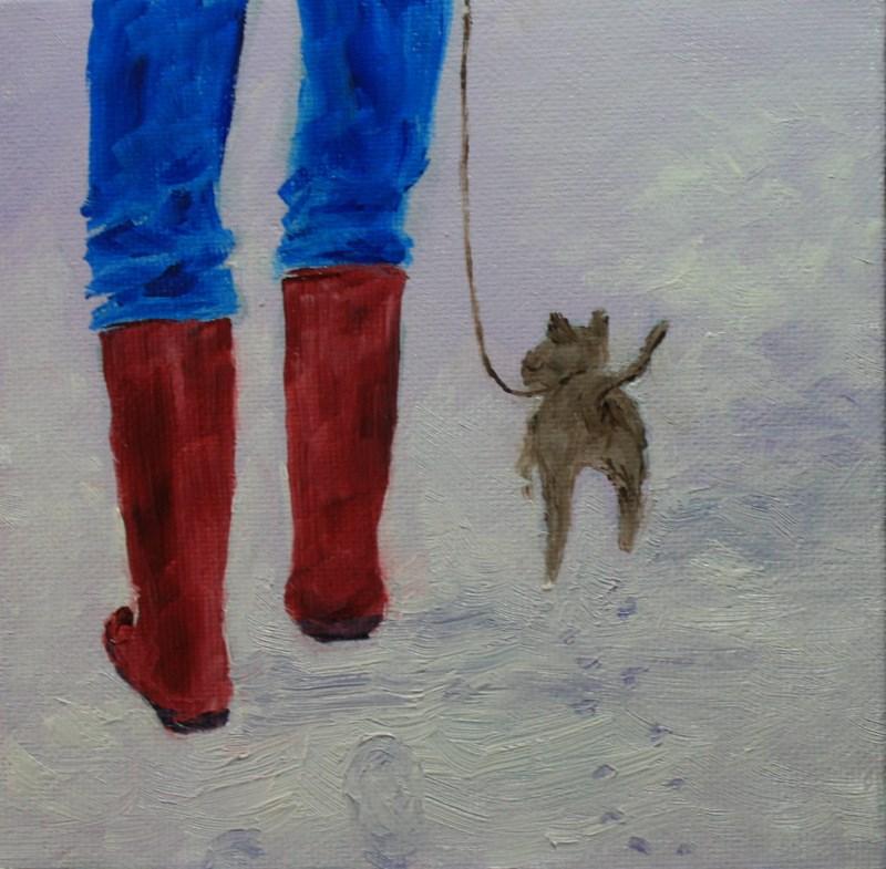 """""""Winter Walk"""" original fine art by Jean Nelson"""