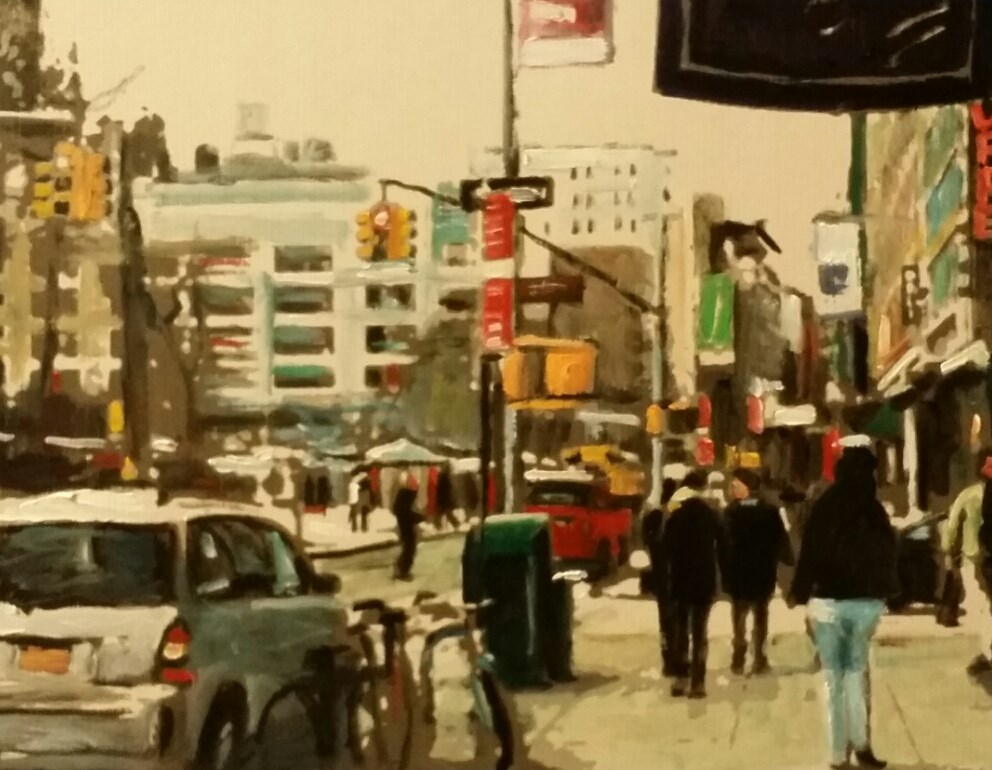 """16th Street (10.5 x 8.5 Oil on canvas paper - no frame)"" original fine art by Ramon DelRosario"