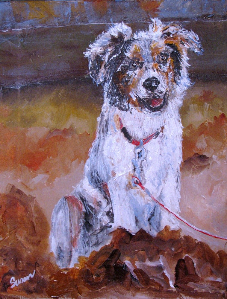 """Harley"" original fine art by Susan Elizabeth Jones"