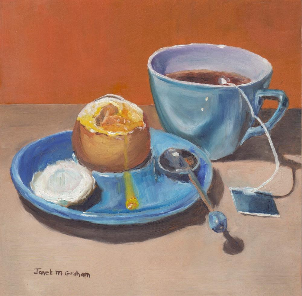 """Breakfast"" original fine art by Janet Graham"