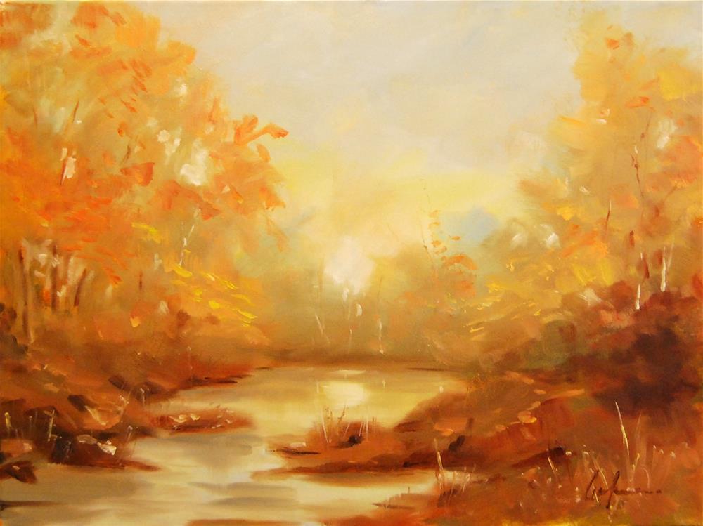 """With His Brush"" original fine art by Cornelis vanSpronsen"