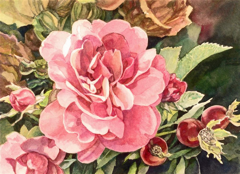 """The Rose Bush"" original fine art by Nicoletta Baumeister"