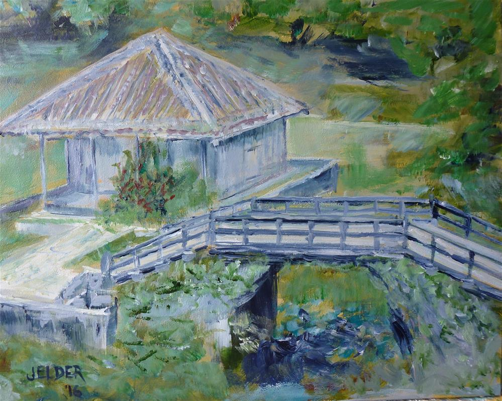 """Benten Temple, Naha"" original fine art by Judith Elder"