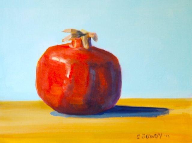 """Bold Pomegranate"" original fine art by Christina Dowdy"
