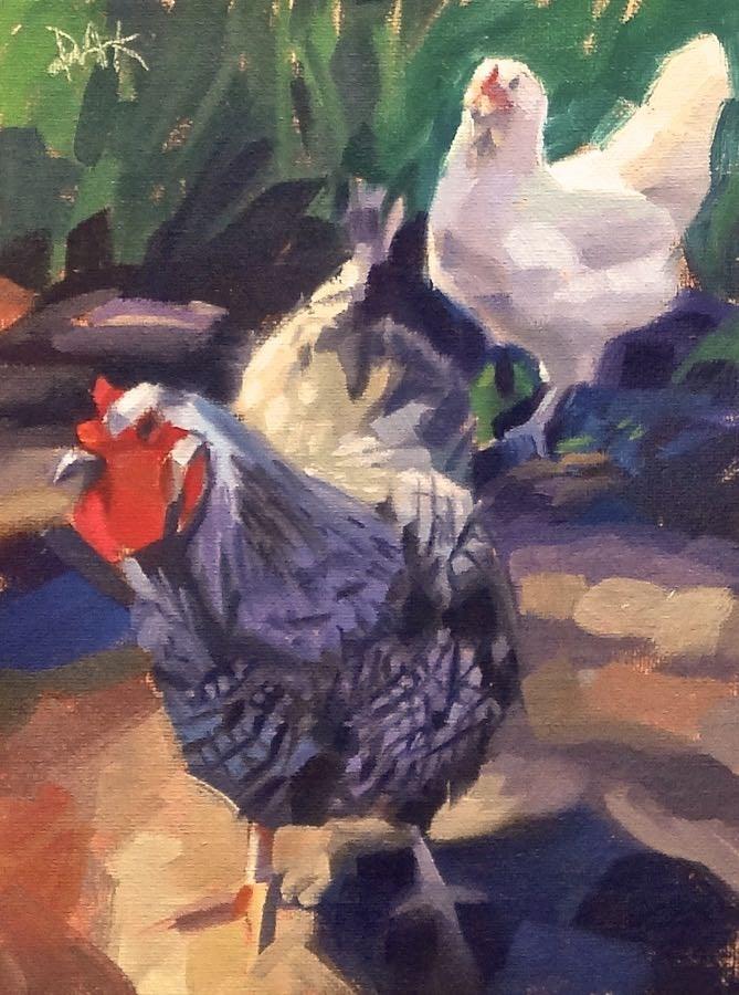 """""""Show Off"""" original fine art by Deborah Ann Kirkeeide"""