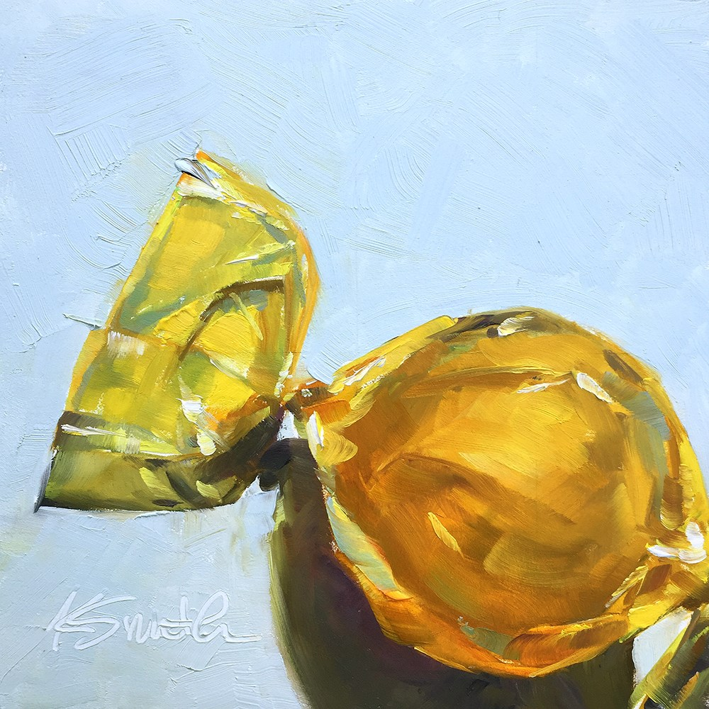 """butterscotch candy"" original fine art by Kim Smith"
