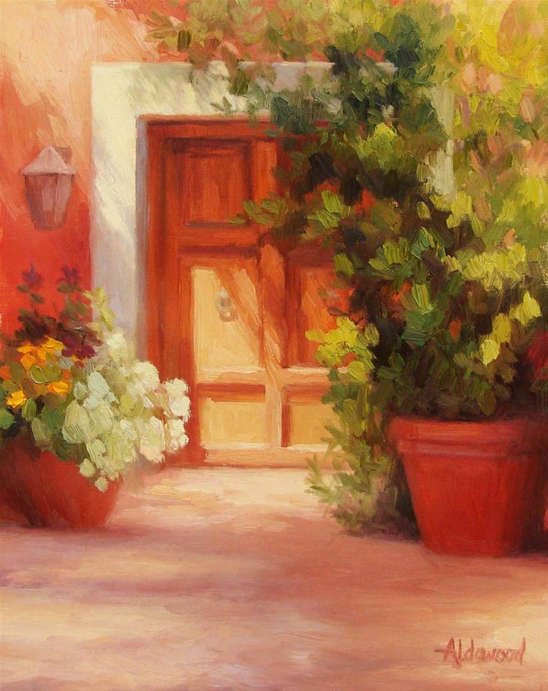 """""""Wooden Door"""" original fine art by Sherri Aldawood"""