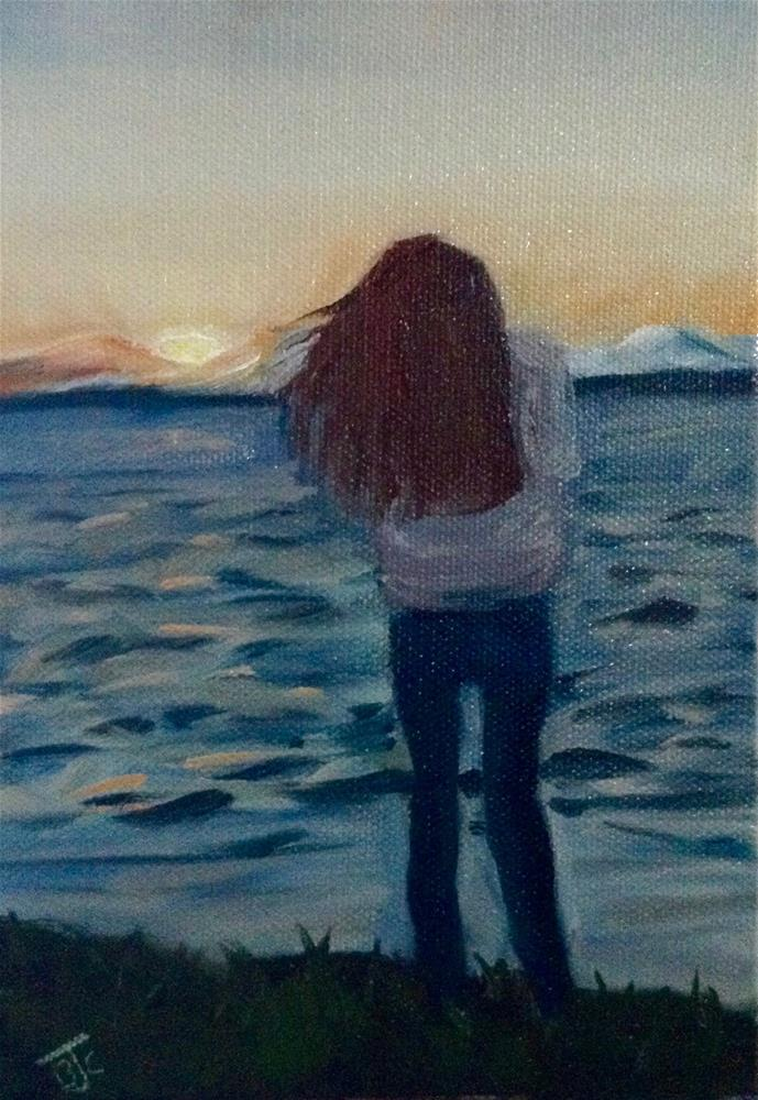 """Quiet Contemplation"" original fine art by Bobbie Cook"