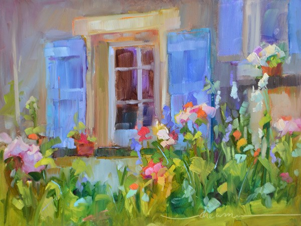 """French Spoken Here"" original fine art by Dreama Tolle Perry"