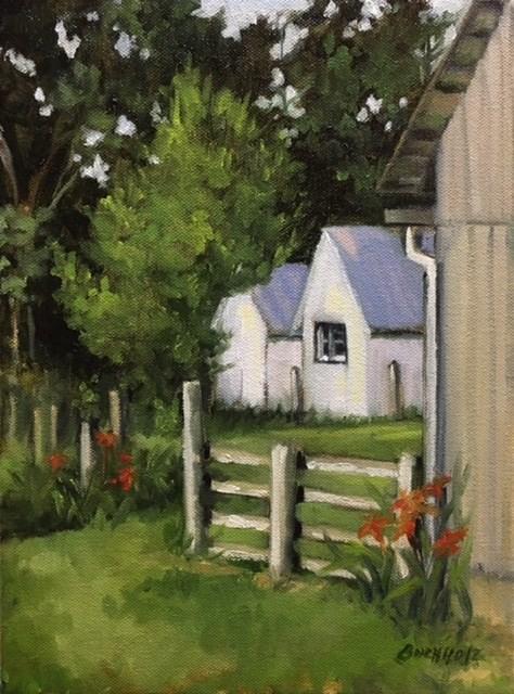 """Back Yards"" original fine art by Terri Buchholz"