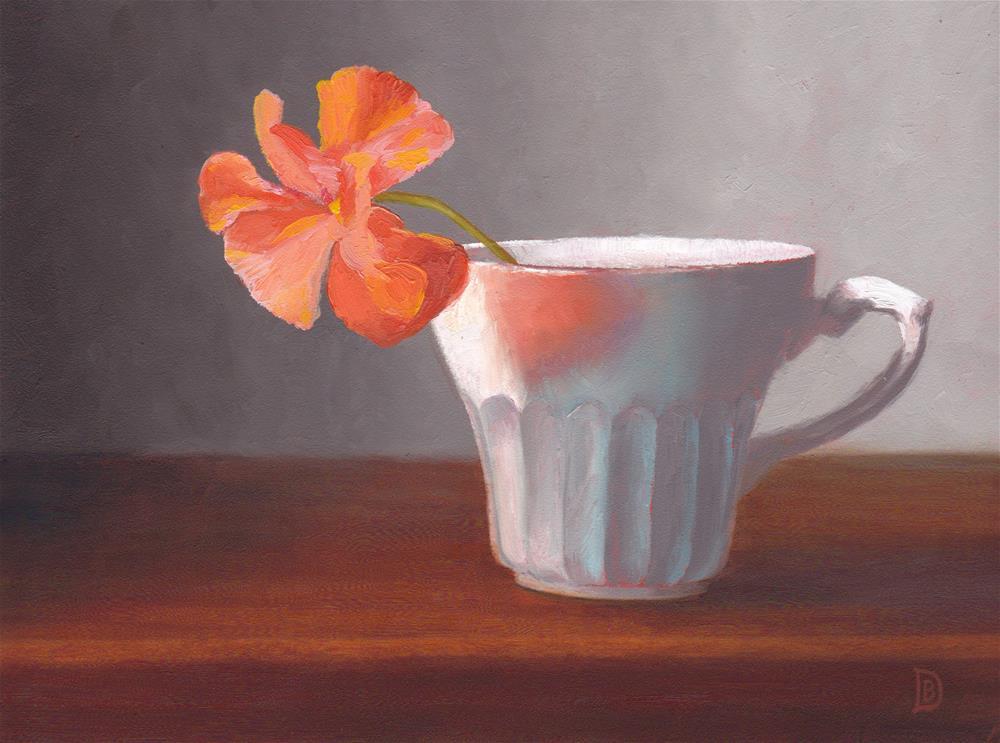 """Orange Pop"" original fine art by Brie Dodson"