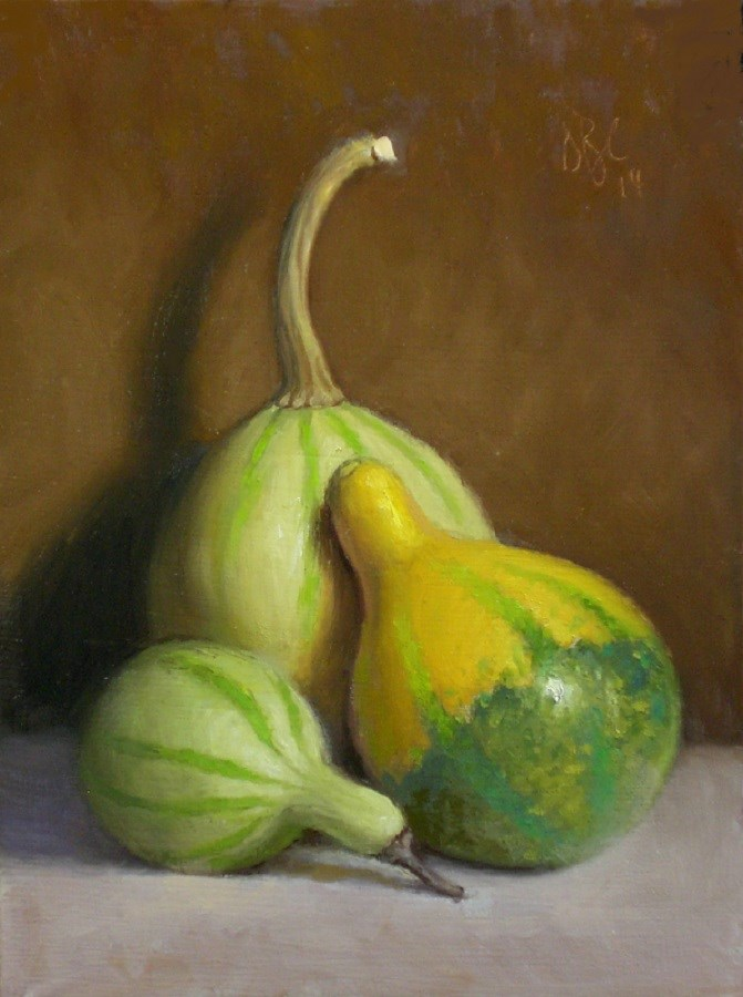 """Autumn Gourds"" original fine art by Debra Becks Cooper"