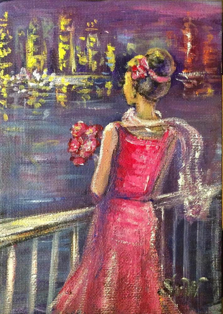 """Romantic evening"" original fine art by Sonia von Walter"