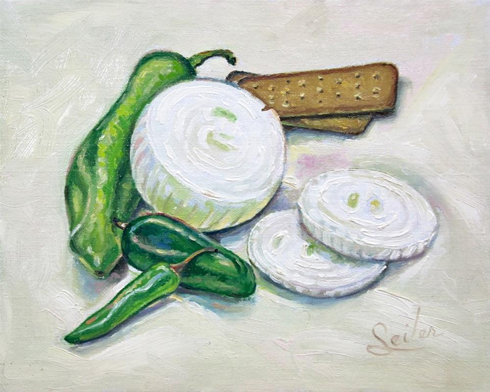 """Peppers & Onions"" original fine art by Larry Seiler"