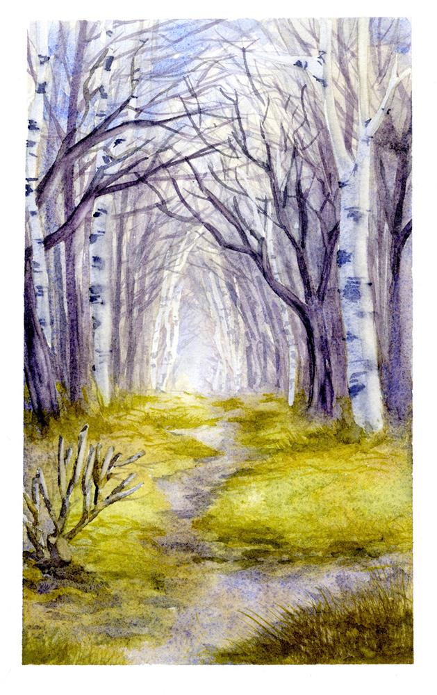 """Grimm Trees"" original fine art by Eileen Hennemann"