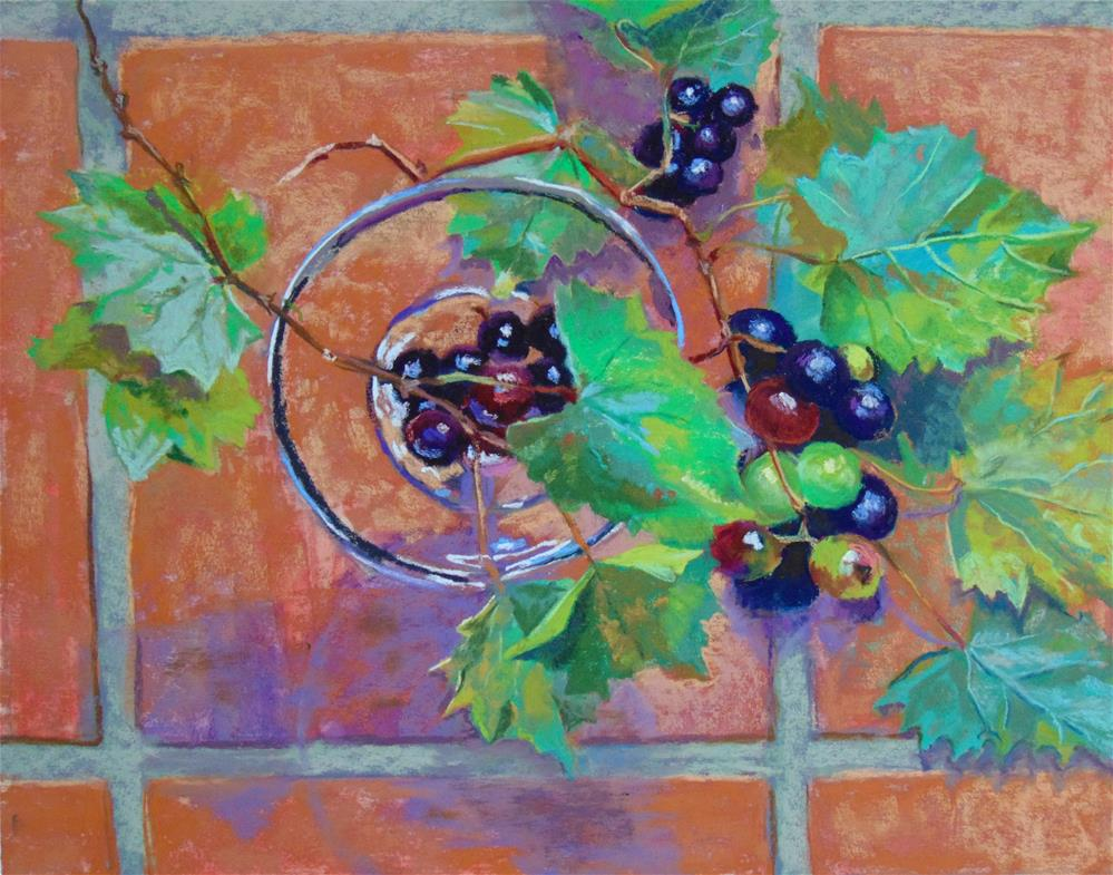 """Wild Grapes"" original fine art by Catherine Kauffman"