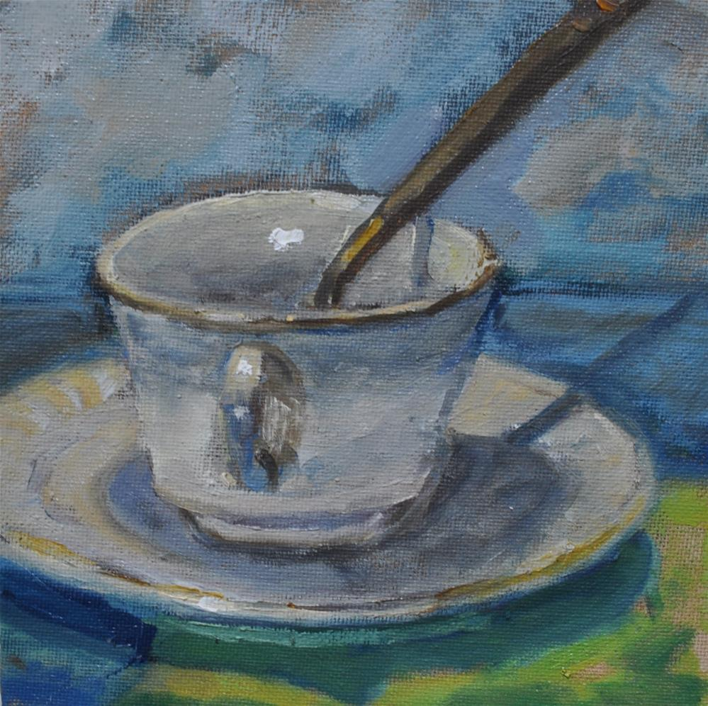 """Cup and Saucer Still Life"" original fine art by Catherine Crookston"