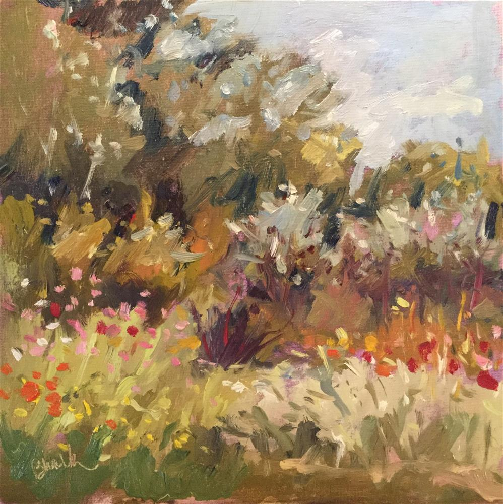 """Garden Day"" original fine art by Barb Walker"