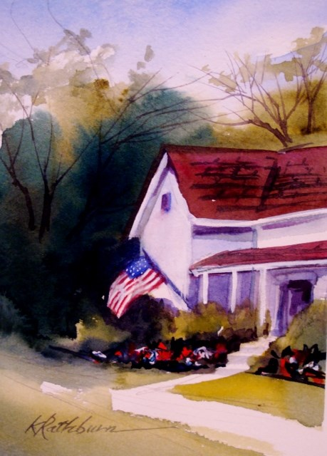 """All American Summer"" original fine art by Kathy Los-Rathburn"