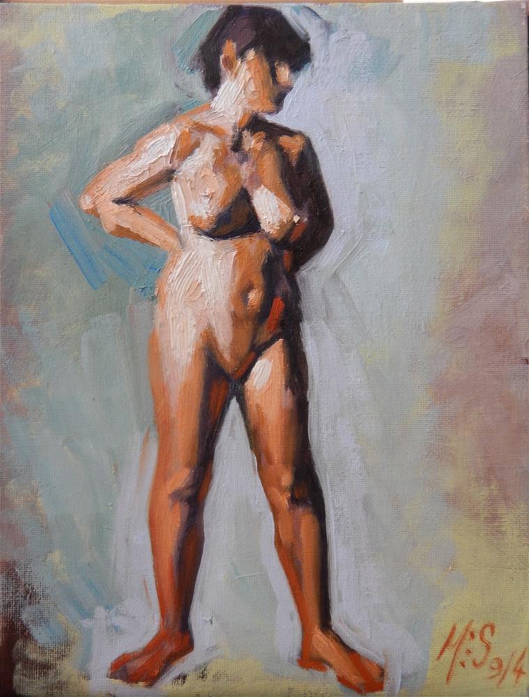 """Standing Nude"" original fine art by Megan Schembre"