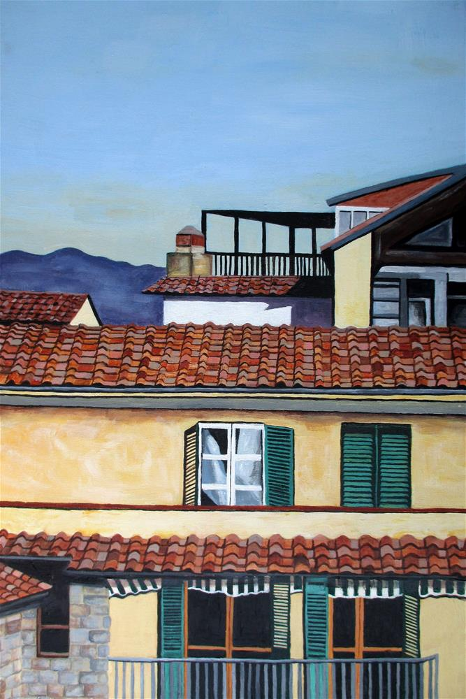 """Rooftops-Florence"" original fine art by Lisa Wiertel"
