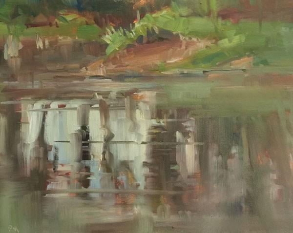 """Lazy Hazy River Day"" original fine art by Patti McNutt"