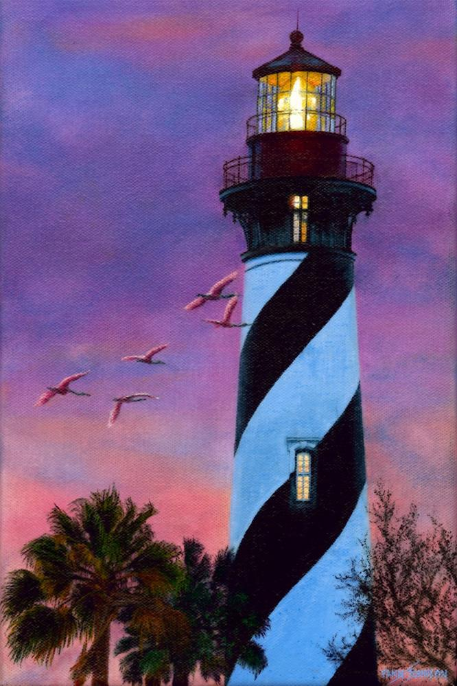 """The Light, St. Augustine"" original fine art by Wendi Vann Johnson"