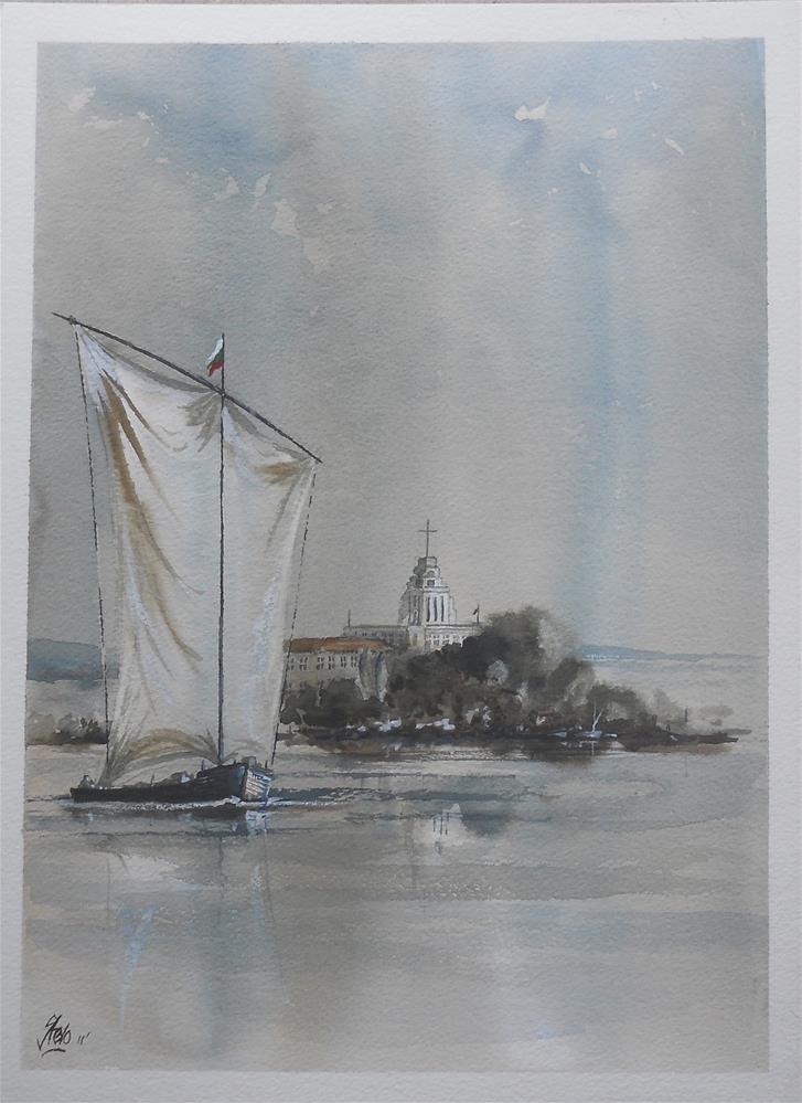 """The Old Sailing Boat"" original fine art by Martin Stephenson"