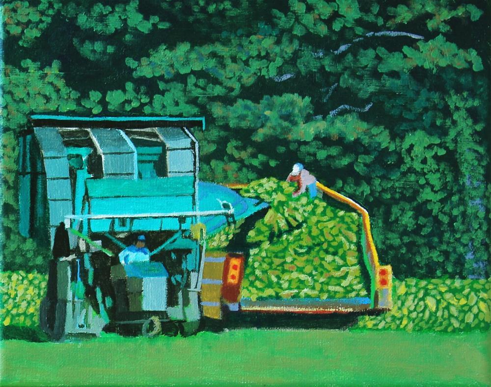 """Tobacco Harvest"" original fine art by Alan Mintz"
