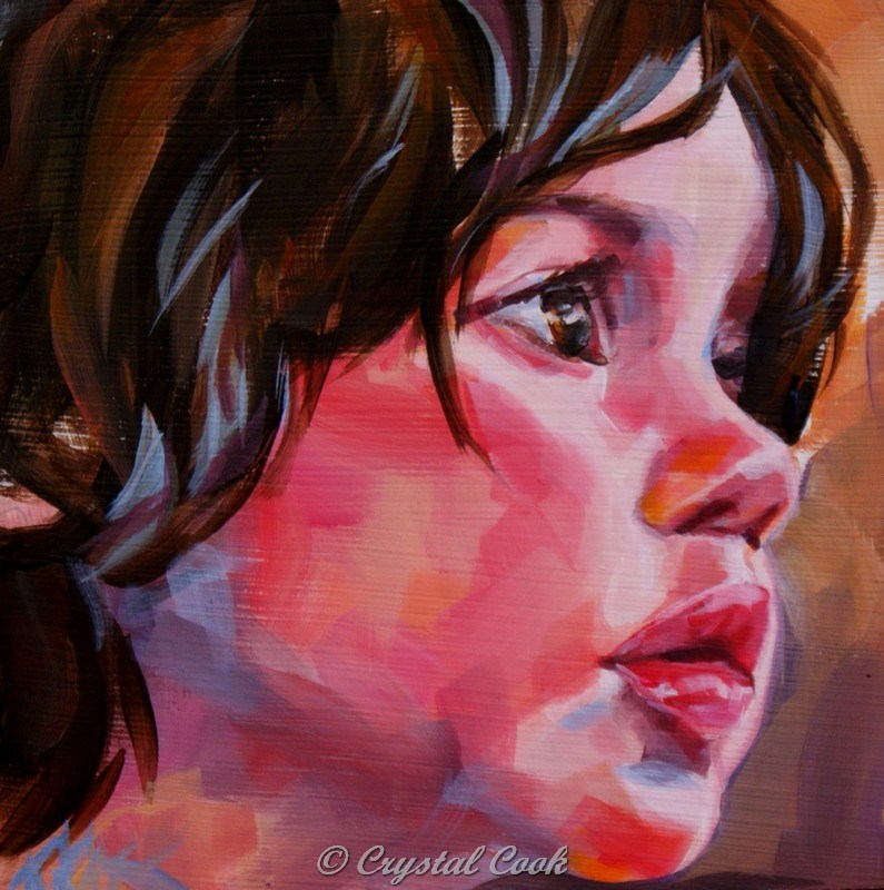 """Precocious"" original fine art by Crystal Cook"