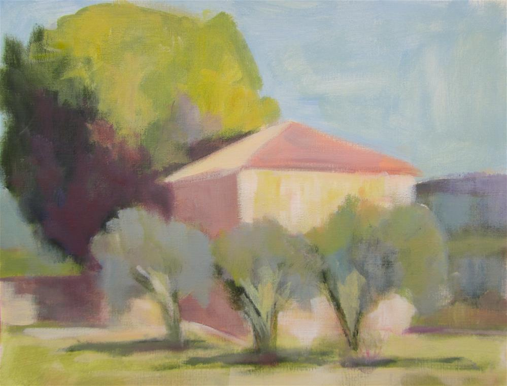"""Near the Chateau de Bourgane, Provence"" original fine art by Patricia MacDonald"